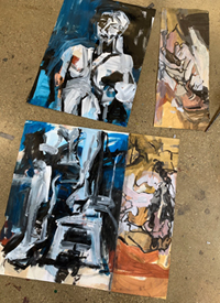 Melbourne artist Rebecca Jones - Artwork - Painting - Blue Matter (The creative process 3: From drawing to painting)