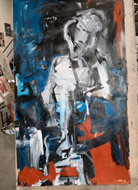 Melbourne artist Rebecca Jones - Artwork - Painting - Blue Matter (The creative process 4: From drawing to painting)