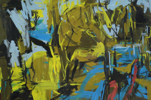 Melbourne artist Rebecca Jones - Artwork - Painting - Cerulean Blue and Green